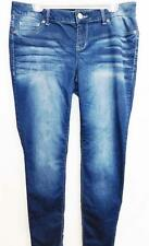 Maurices blue medium washed plus size spandex skinny jeans XL-REG