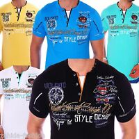 Herren T-Shirt Shirt Shirts Top Qualität Polo Party Clubwear WOW M L XL XXL NEU
