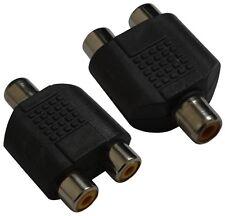 2 raccords dédoubleur coupleur multiprise RCA phono vidéo en Y 1femelle-2femelle