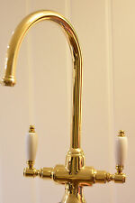 Deva Georgian Mono Kitchen Sink Mixer Tap Gold