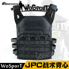 Tactical Military Airsoft Hunting Paintball Molle Plate Carrier JPC Vest Black