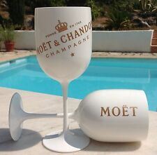 MOET CHANDON ICE IMPERIAL CHAMPAGNE GLASSES X 2 NEW DESIGN 2016