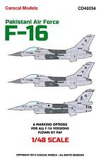 Caracal Decals 1/48 GENERAL DYNAMICS F-16 Pakistani Air Force