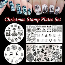 4pcs/set Born Pretty Christmas Nail Art Stamping Template Image Plates Manicure