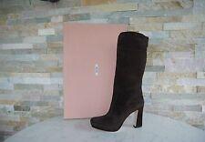 orig MIU MIU Gr 37,5 Damen Plateau Stiefel boots Shoes 5UP019 ebenholz UVP 750€€