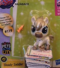 ☆ Littlest Pet Shop ☆ PFERD STEADY SADDLER  #119 ☆GLIMMER ☆ PETS IN THE CITY RAR