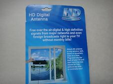 Digital Indoor VHF UHF Ultra Thin Flat TV Antenna for HDTV 1080P DTV HD US Ship