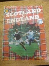 20/05/1978 Escocia Inglaterra V [en Hampden Park] (plegado, arrugada). toda falla Ar