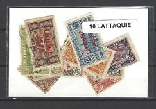 Lattaquié 10 timbres différents