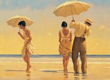 Jack Vettriano greeting card - Mad Dogs