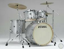 Tama Superstar Classic Maple 5pc Drum Set - Silver Snow Metallic Shell Kit