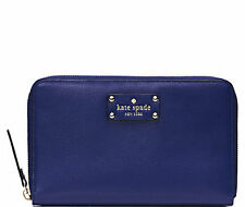 Kate Spade New York Travel Wallet Wellesley Emperor Blue NEW