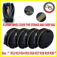 DODGE FIAT HYUNDAI Car Tyre Carry Bags Set 4 x Covers Race Winter Wheels Storage
