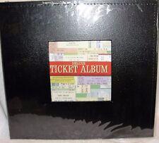 BLACK  DELUXE TICKET ALBUM -TICKET SCRAPBOOK-TICKET STUB SCRAPBOOK