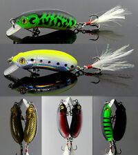 New Lot 1pcs Fishing Lures Bass Crank Bait HU Tackle Fish CA Hooks 6cm/10g