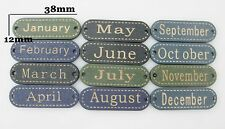 Clothes buttons 12 Months mix 48pcs wood label button sewing accessories