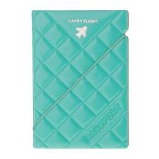 Fashionable Diamond-Shaped Passport Holder Protector Case Cover-Green