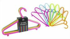 New 32 x Multicoloured Childrens Kids Baby Plastic Coat Clothes Trousers Hangers
