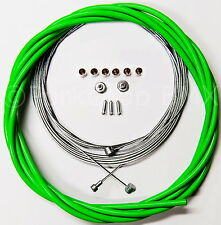Bicycle 5mm LINED freestyle ACS rotor brake cable kit old school BMX - GREEN