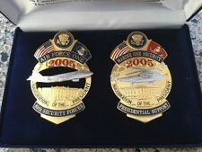 2005 Air Force One and Marine One Inauguration   Collectors Badge  Set