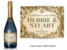 PERSONALISED gold Champagne wine bottle label Birthday Anniversary Wedding gift