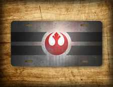 Star Wars Rebel Alliance License Plate Galactic Empire Seal Darth Vader Auto Tag