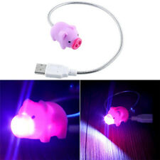 Mini Portable Cute Pig Flexible USB LED Night Light For Power Bank PC Laptop