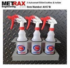 3 Autosmart 500ml Spray bottles & holder / Garage Shed Van car valet accessory