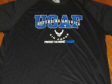 NWT UNDER ARMOUR MEN XXL US AIR FORCE BLACK  'PROTECT THIS HOUSE' LOOSE  SHIRT
