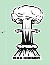 Mushroom Cloud Sticker by Atomic Kustom Kulture Artist MAX GRUNDY Lowbrow Art