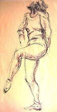 Derek Fowler study of a permanent danseur de ballet encre c1940