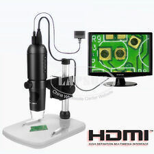 10-200X 1080P HDMI USB HD Digital Lab Microscope Camera TF Card Video Recorder S