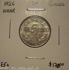 Canada George V 1926 N6 KeyDate Five Cents -  EF+