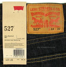 Levis 527 Jeans Mens New Slim Boot Cut Size 33 X 32 TUMBLED RIGID Levi's #690