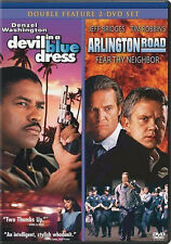 Devil In A Blue Dress / Arlington Road  (DVD 2 disc)  NEW
