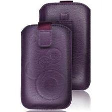 Funda PASADOR CINTURON Sony Ericsson Xperia RAY NEO V Cuero MORADA Xi clip LILA