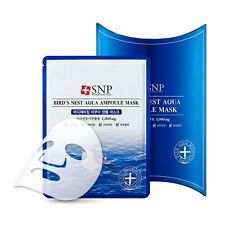 [SNP] Bird's Nest Aqua Ampoule Facial Mask *10ea (1Pack)