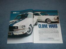 """1965 Shelby GT350 Mustang Article """"Clone Wars"""" 1966 Fastback"""
