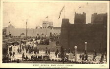 WEMBLEY London 1924 British Empire Exihibition East Africa Gold Coast Postcard