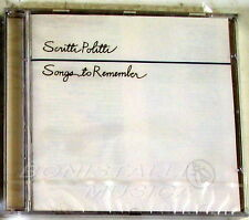 SCRITTI POLITTI - SONGS TO REMEMBER - CD Sigillato