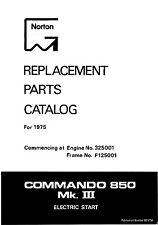 1975-1978 Norton 850 MkIII Commando parts book