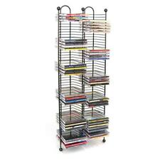 100 CD Tower Stand Media Storage Holder Black Steel Wire Rack Shelf Organizer