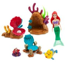 Disney Store Little Mermaid Swimming Ariel Play Set Figures Swim Toy Girls Gift