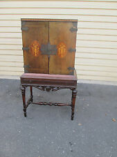 57588  Inlaid China Cabinet Liquor Bar Cabinet Chest