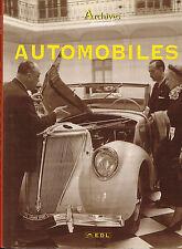 livre automobile: Borgié-Viasnoff: automobiles: archives du monde. EDL