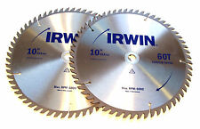 "2 10"" IRWIN Circular Table Miter Saw Blades Carbide Tipped 60T"