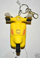 BATH BODY WORKS YELLOW SCOOTER VESPA LIGHT UP POCKETBAC HOLDER SLEEVE KEYCHAIN