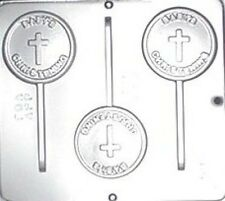 Baby's Christening Lollipop Chocolate Candy Mold Religious  659 NEW