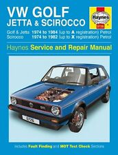 HAYNES SERVICE & REPAIR MANUAL VW Golf, Jetta&  Scirocco(74 - 84) 0726