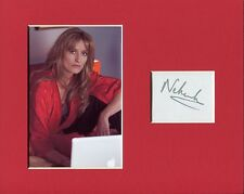 Natascha McElhone The Truman Show Californication Signed Autograph Photo Display